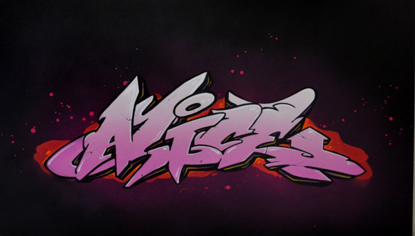 Graffiti lausanne tableau graffeur customize des toiles sur mesure - Graffiti prenom gratuit ...