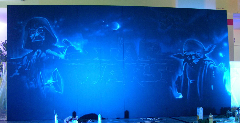 live painting graffiti