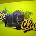 Graffiti à Genève pour un centre de Jeune